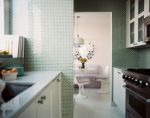 Green Tiles In Kitchen Designed by Kemble Interiors, photo Elle Decor