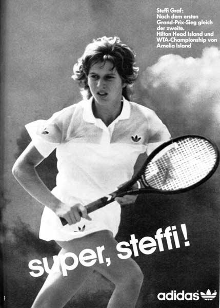 Steffi Graf, in the 80's,