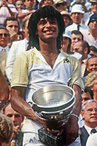 Yannick Noah.  Big crush on him back in the early '80s.