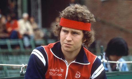 John McEnroe in '79 looking salty.  As usual.