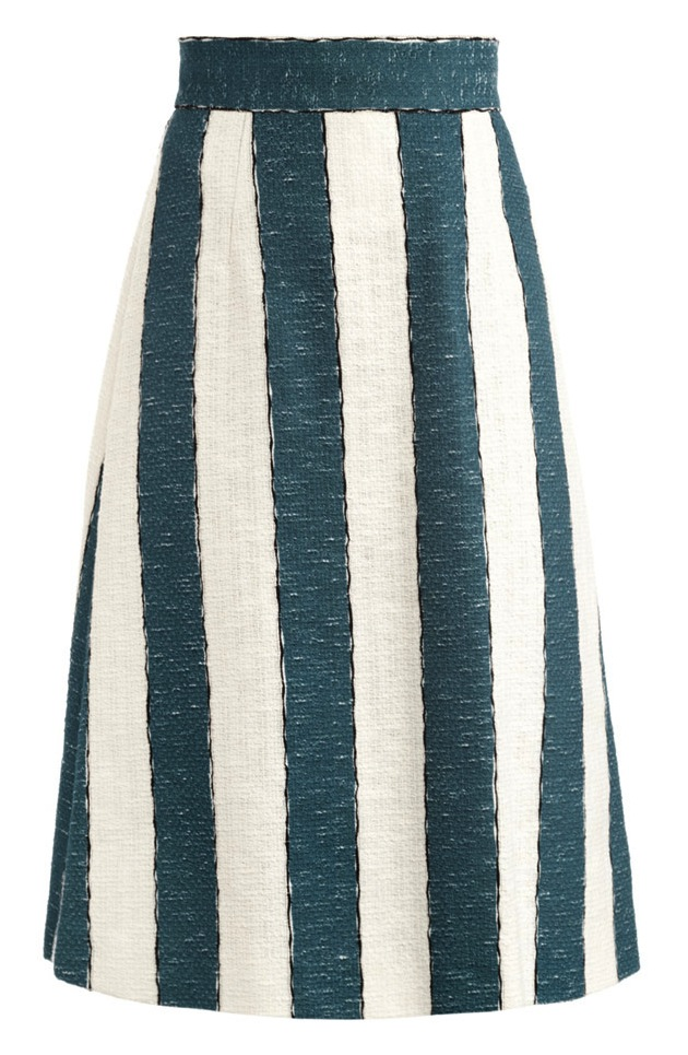Dolce-And-Gabbana-Stripe-A-Line-Skirt