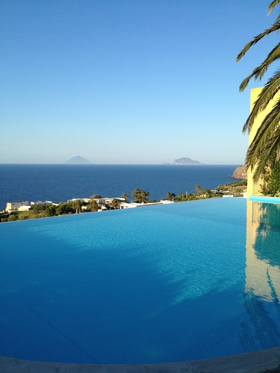 Infinity pool at the Ravesi Hotel, Salina