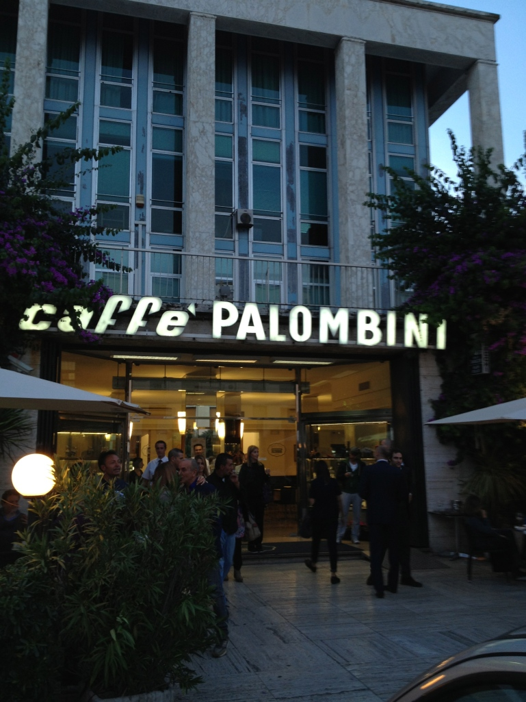 We ended our walk with aperitivi at the famous Caffè Palombini.  There's outside seating.  Perfect during a warm evening.