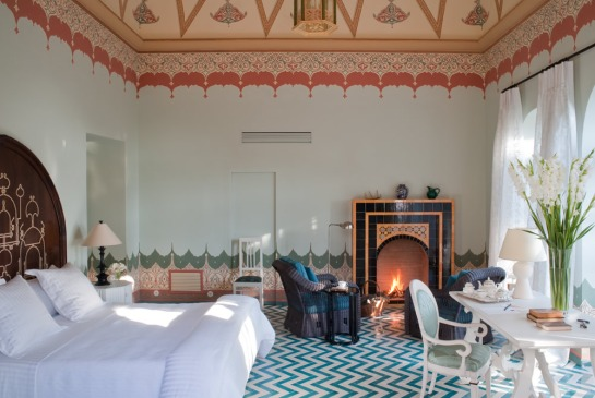 Suite Nine - Palazzo Margherita. Designed by Jacques Grange.