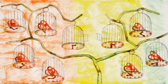 francesco-clemente-a-history-of-the-heart-in-three-rainbows-i-2009